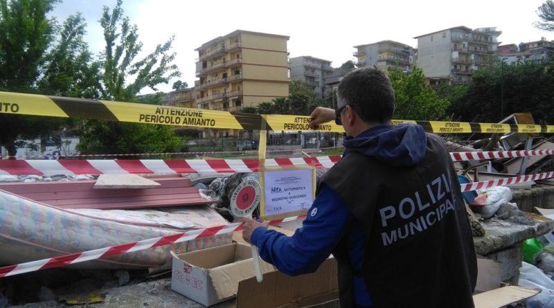 Controlli del Reparto Ambientale della Polizia Municipale.