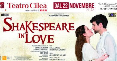 "AL TEATRO CILEA IN SCENA : "" SHAKESPERARE IN LOVE """