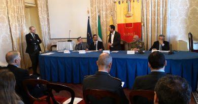 CONFERENZA STAMPA DI PRESENTAZIONE DEI CAMPIONATI ITALIANI DI SCHERMA MD NAPOLI 2020